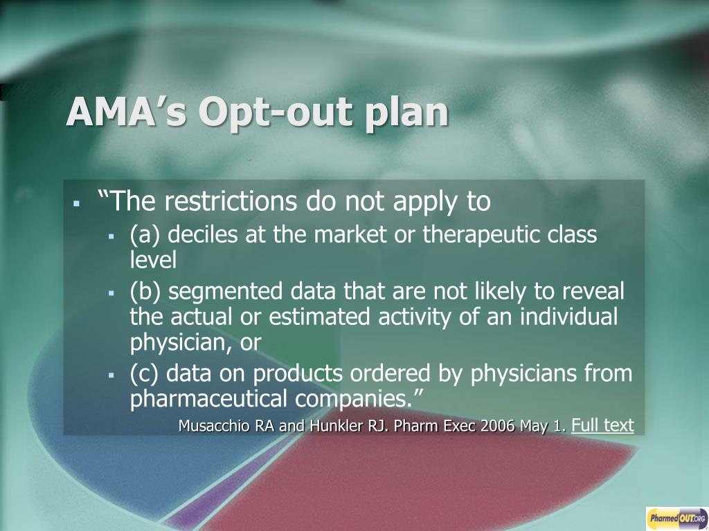 AMA's Opt-out plan
