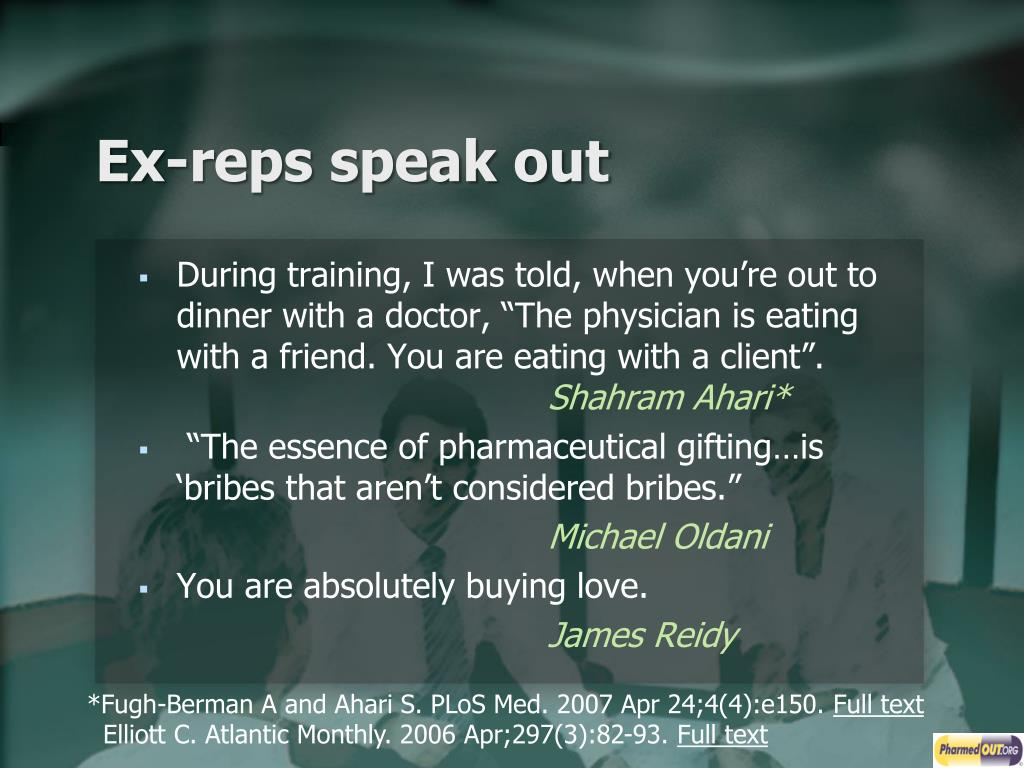 Ex-reps speak out