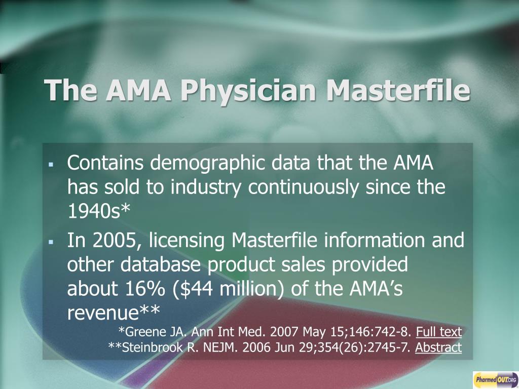 The AMA Physician Masterfile
