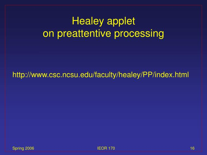 Healey applet