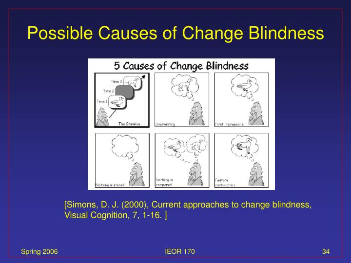 Possible Causes of Change Blindness