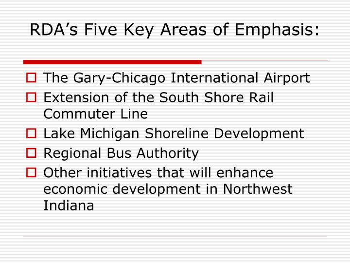 Rda s five key areas of emphasis