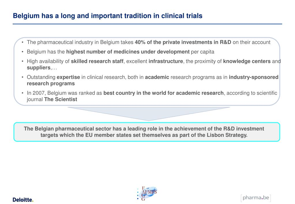 Belgium has a long and important tradition in clinical trials