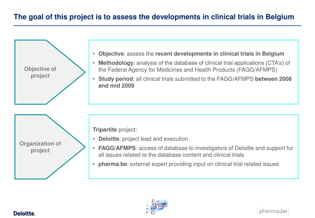 The goal of this project is to assess the developments in clinical trials in Belgium