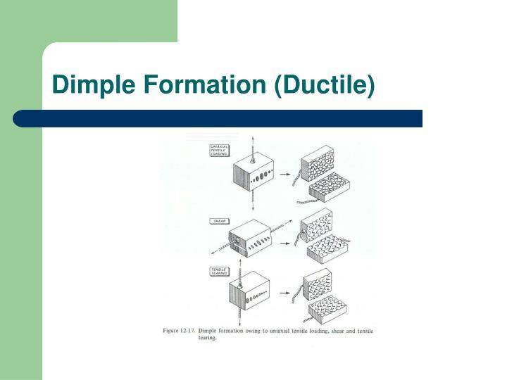Dimple Formation (Ductile)