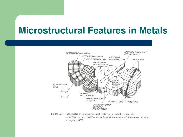 Microstructural Features in Metals