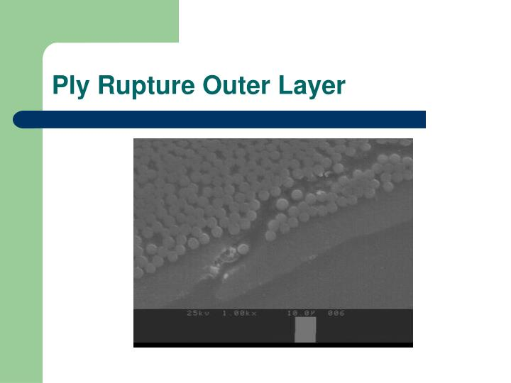 Ply Rupture Outer Layer