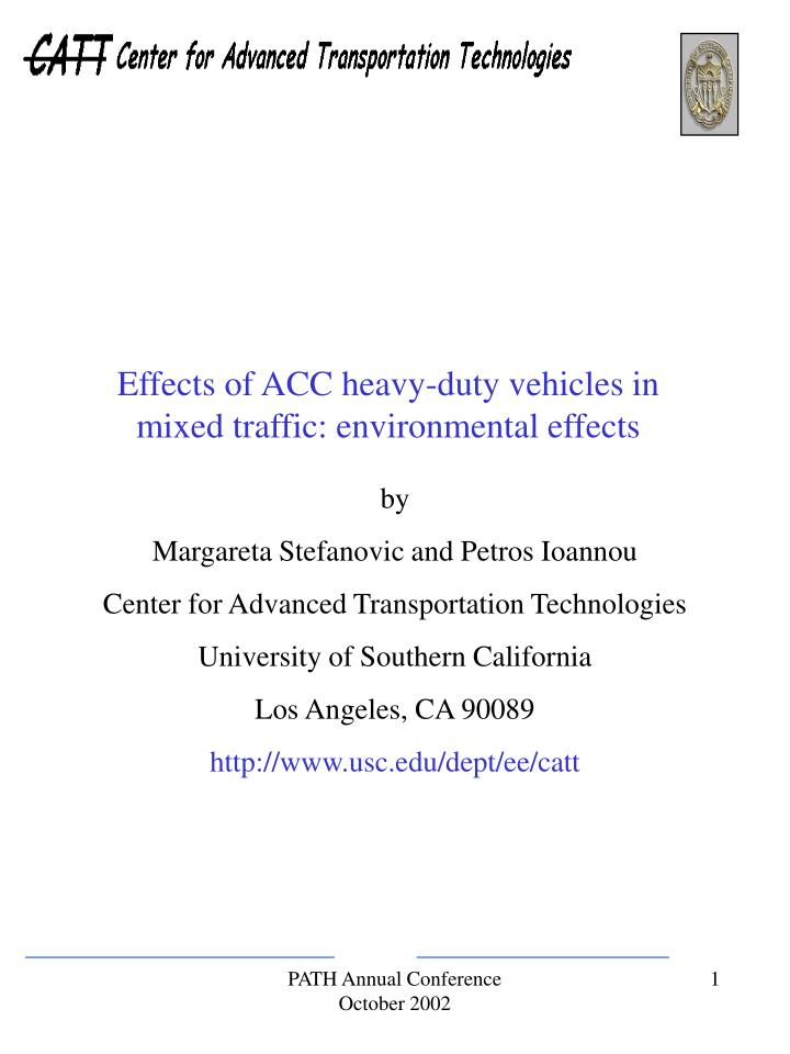 Effects of ACC heavy-duty vehicles in mixed traffic: environmental effects