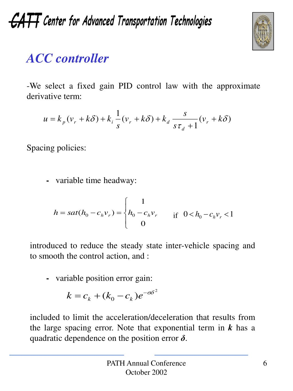 ACC controller