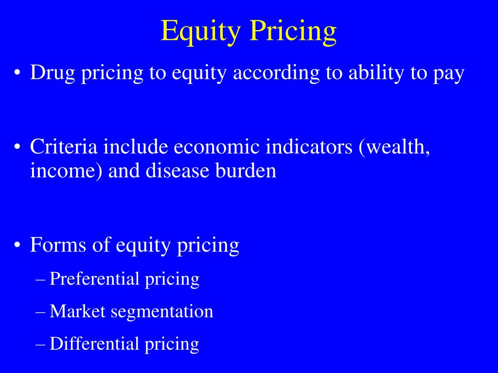 Equity Pricing