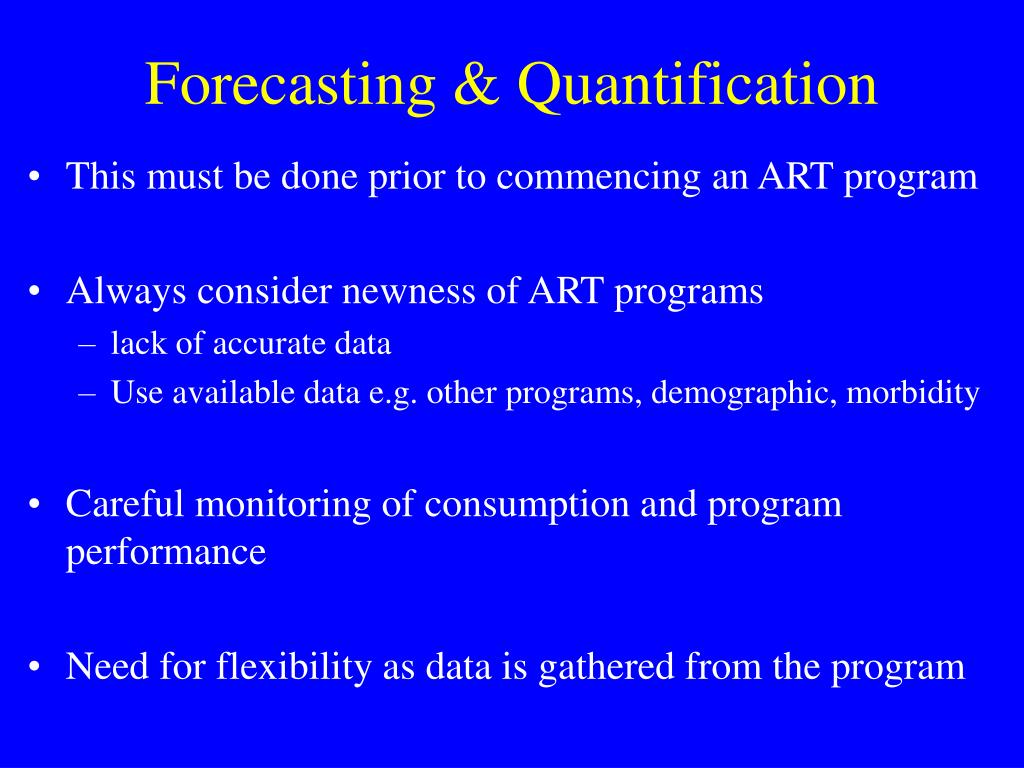 Forecasting & Quantification