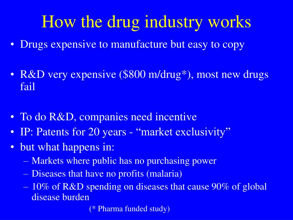 How the drug industry works