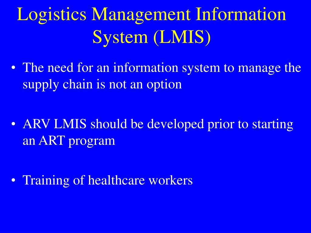 Logistics Management Information System (LMIS)