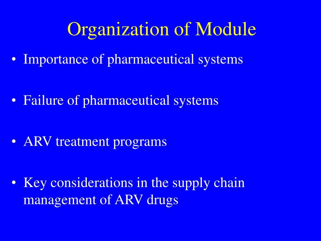 Organization of Module