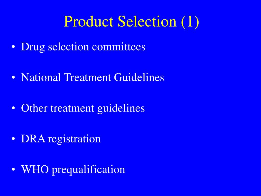 Product Selection (1)
