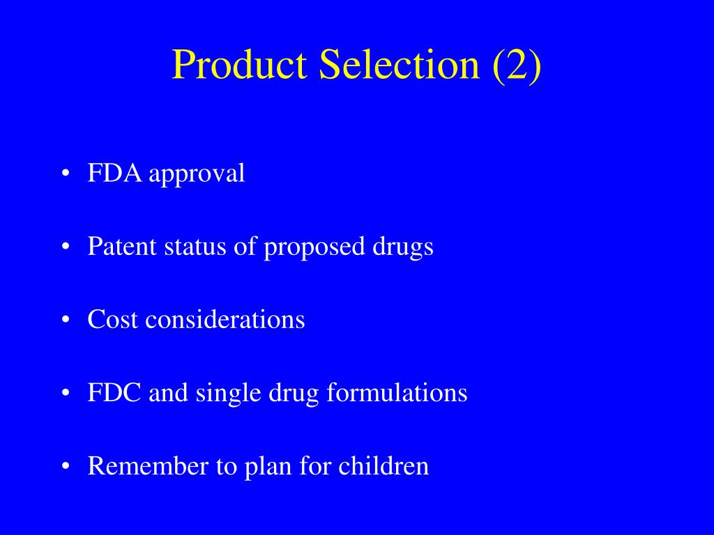 Product Selection (2)