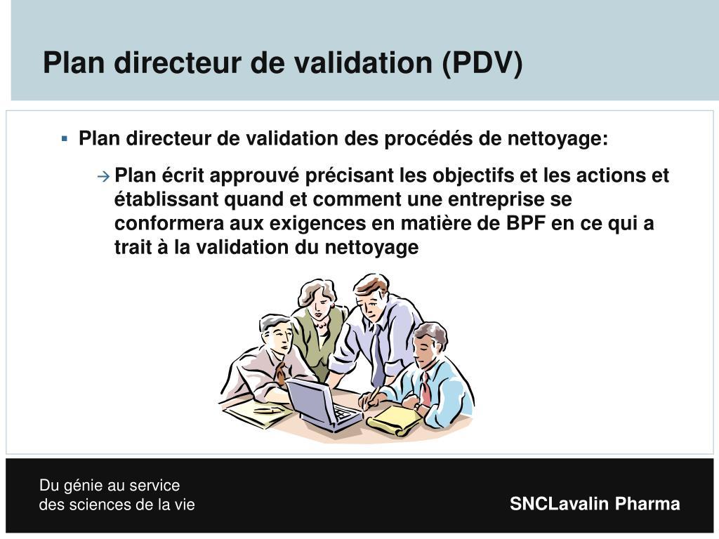 Plan directeur de validation (PDV)