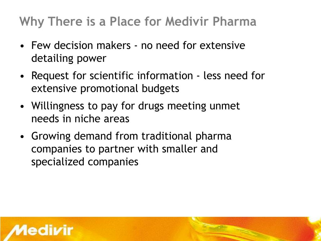 Why There is a Place for Medivir Pharma