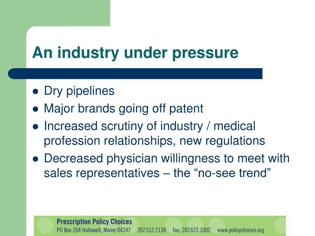 An industry under pressure