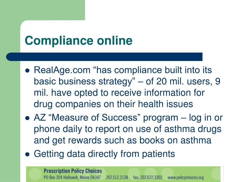 Compliance online