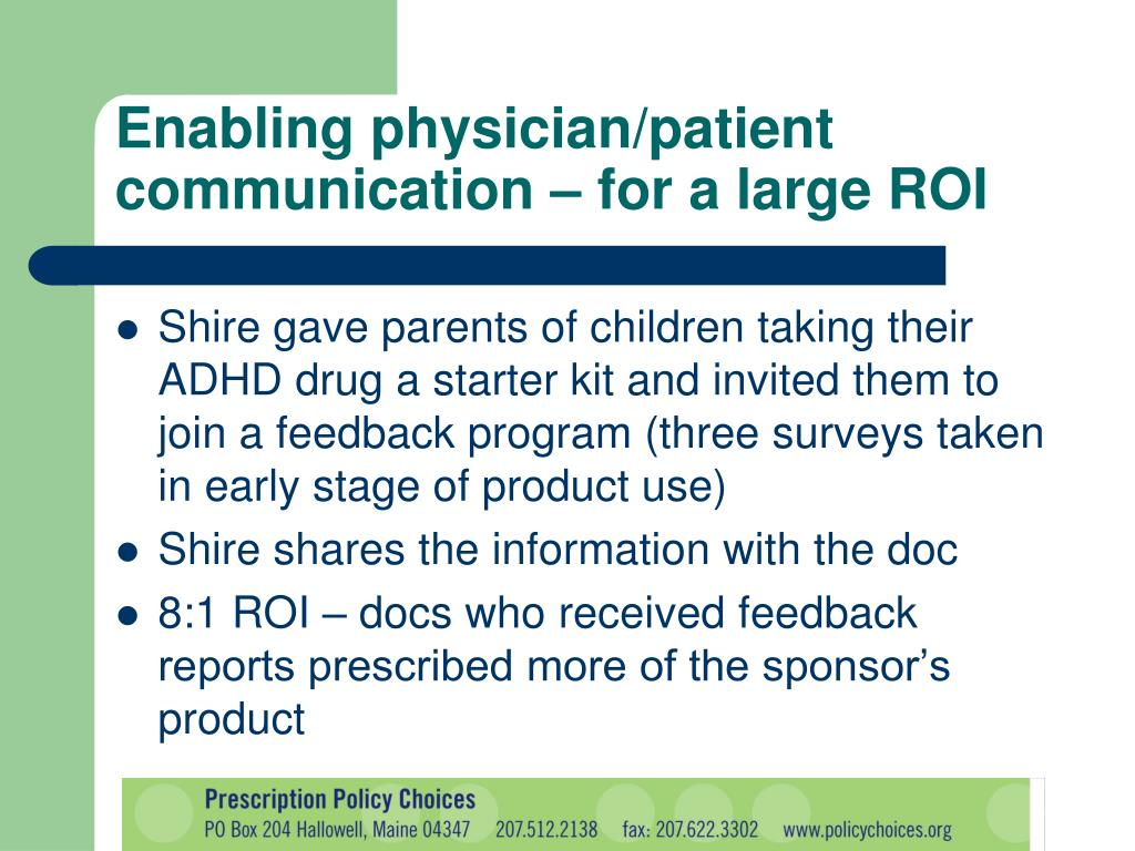 Enabling physician/patient communication – for a large ROI