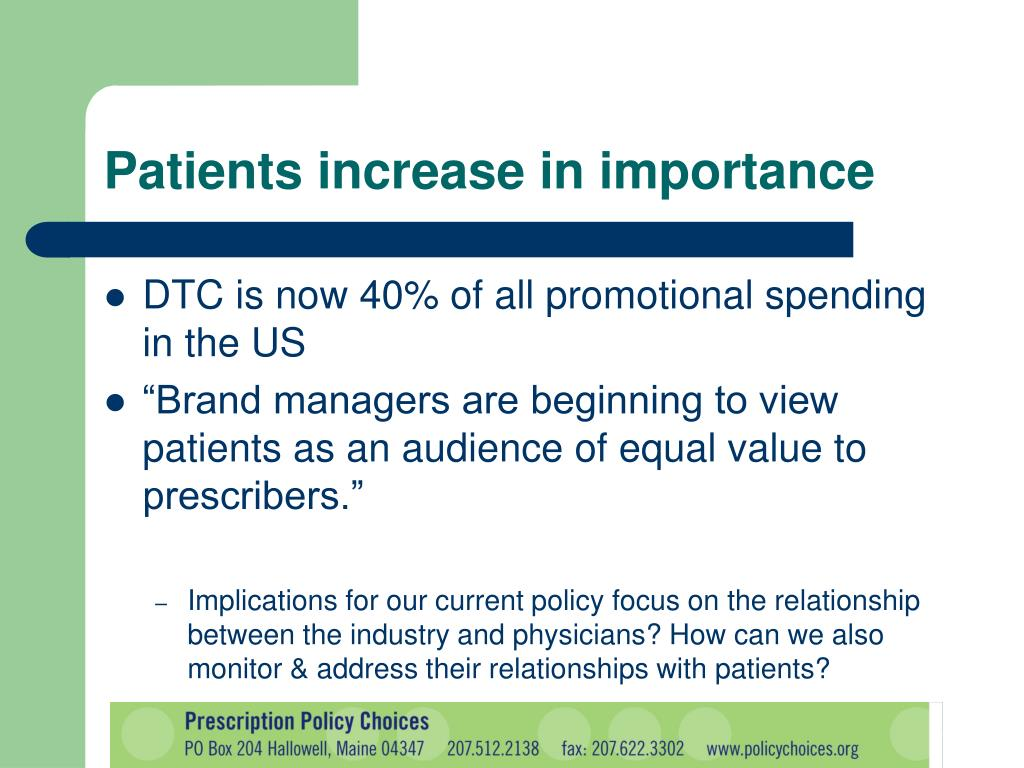 Patients increase in importance