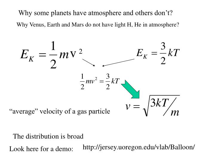 Why some planets have atmosphere and others don't?