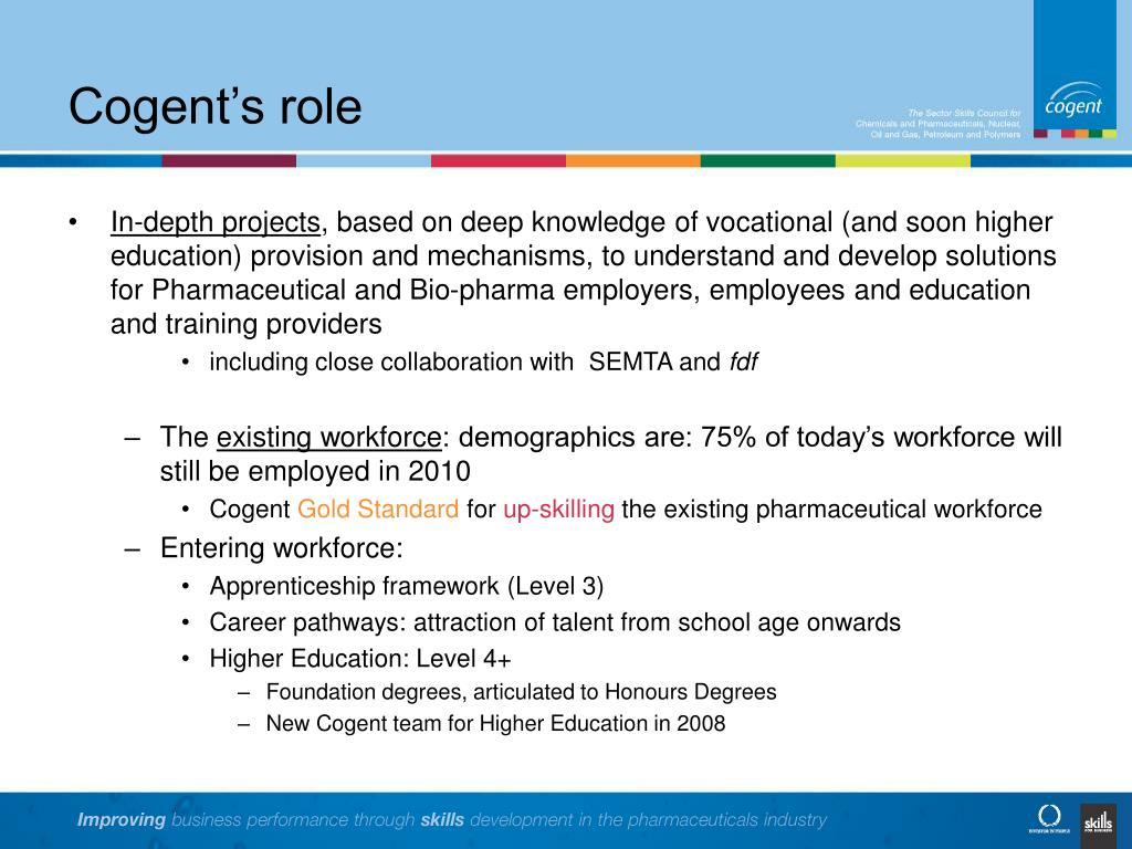 Cogent's role
