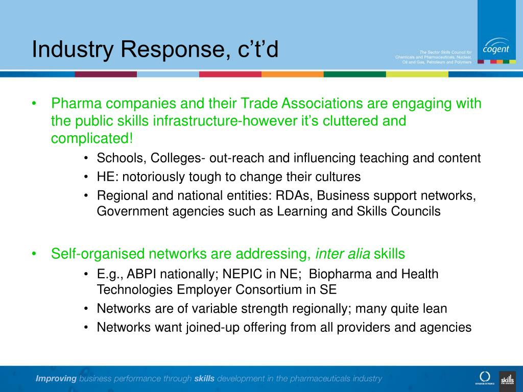 Industry Response, c't'd