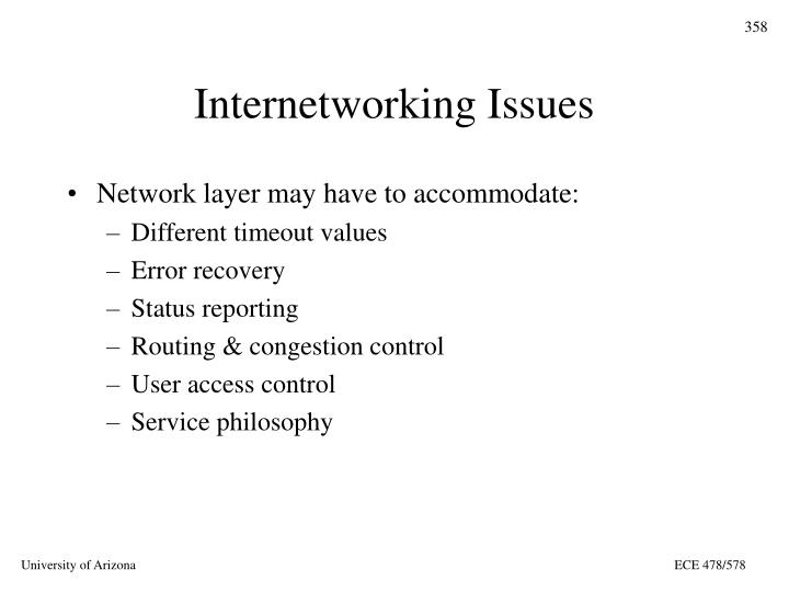Internetworking Issues