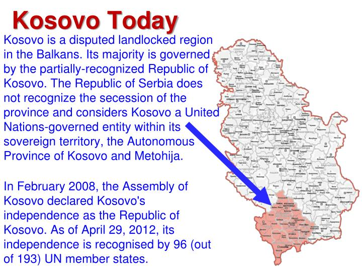 an overview of the kosovo dispute
