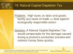 10 natural capital depletion tax