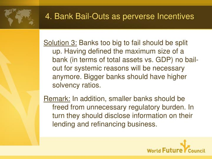 4. Bank Bail-Outs as perverse Incentives