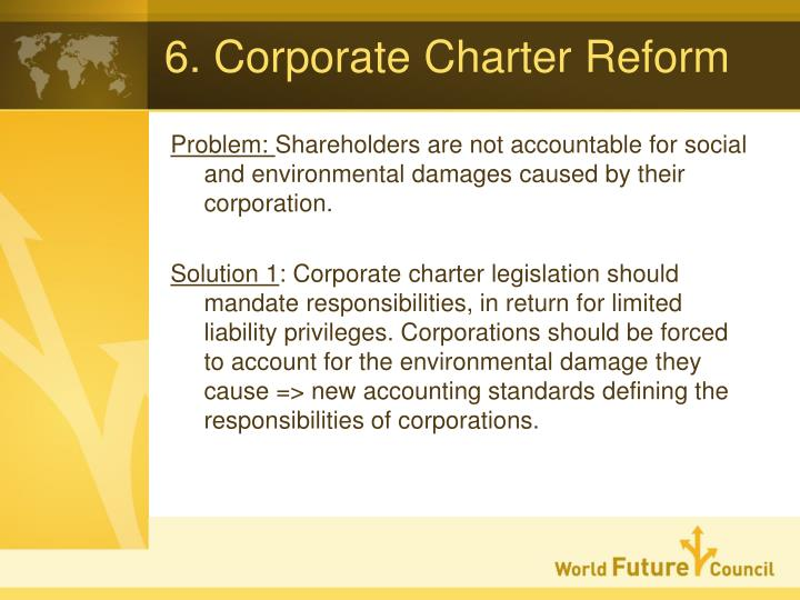 6. Corporate Charter Reform