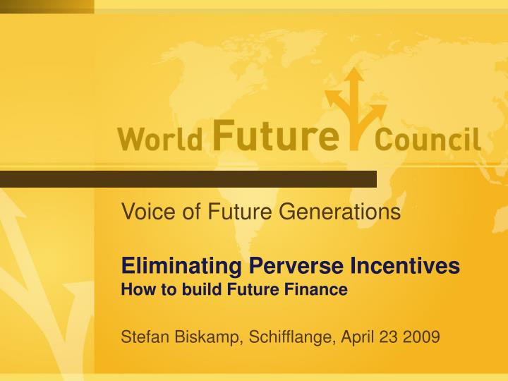 Voice of Future Generations