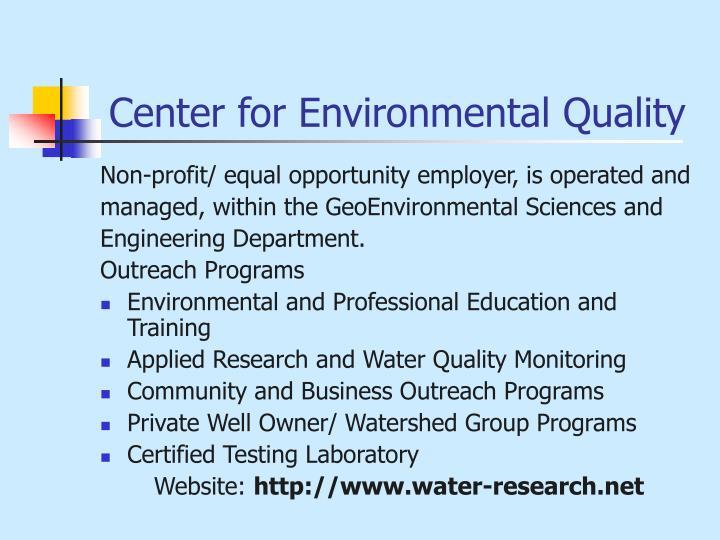 Center for Environmental Quality