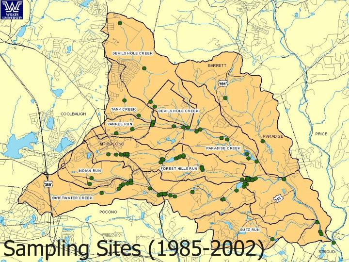 Sampling Sites (1985-2002)