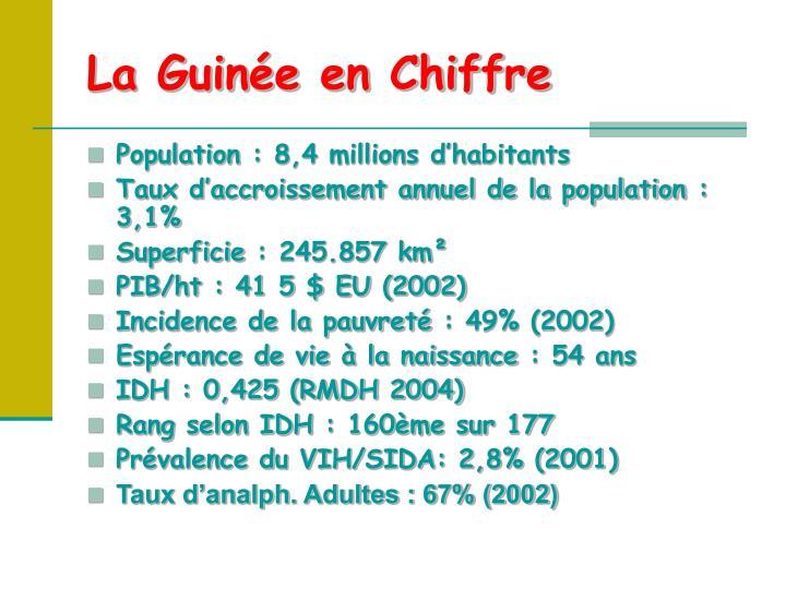 La Guinée en Chiffre