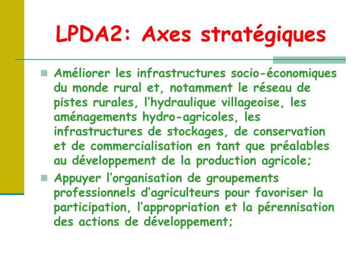 LPDA2: Axes stratégiques