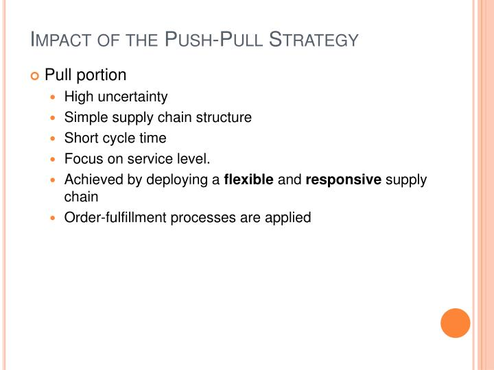 Impact of the Push-Pull Strategy