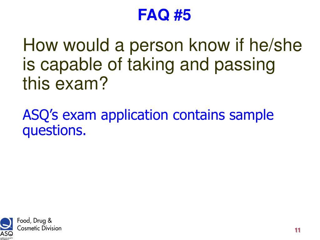 FAQ #5
