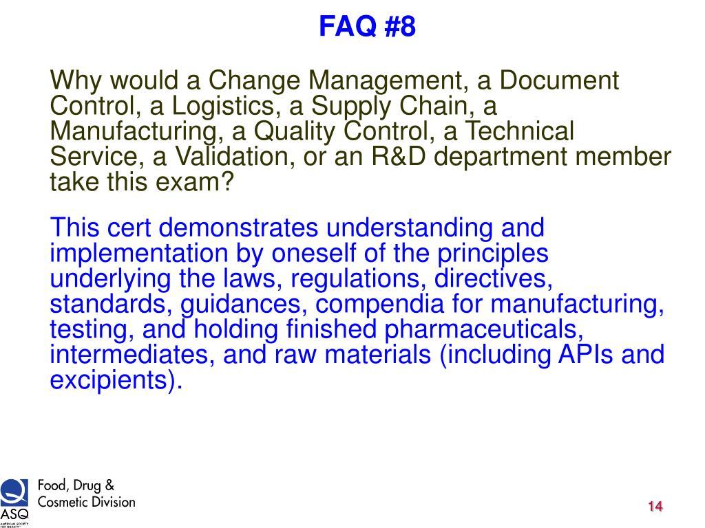 FAQ #8