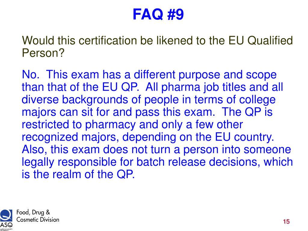 FAQ #9