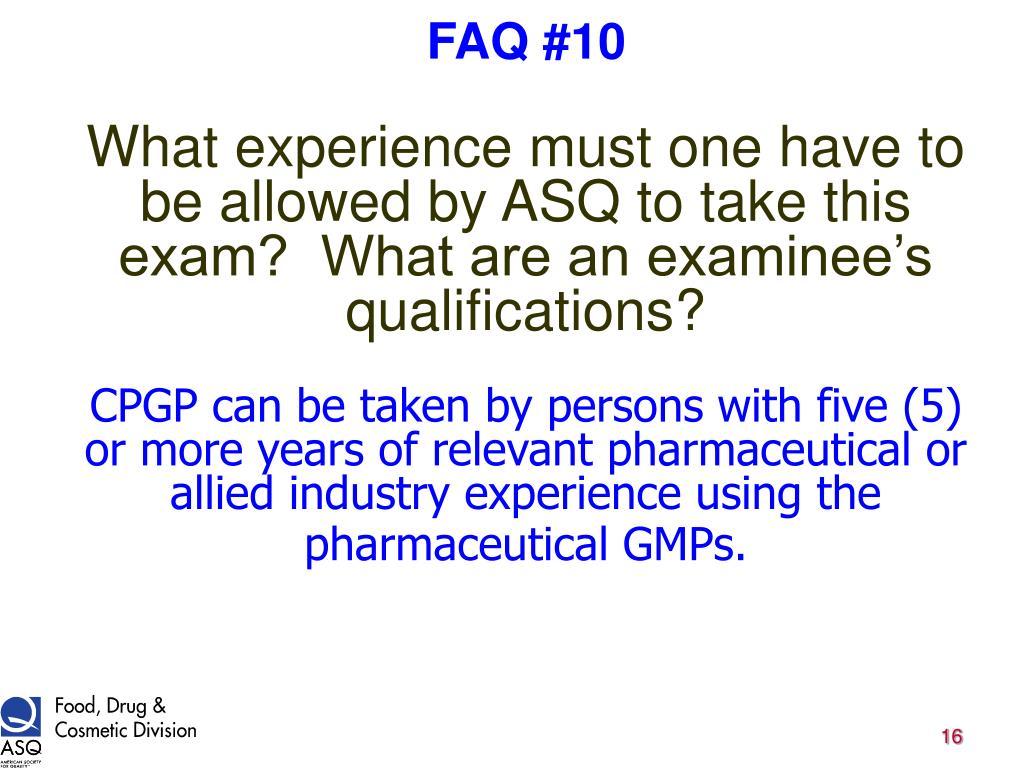 FAQ #10