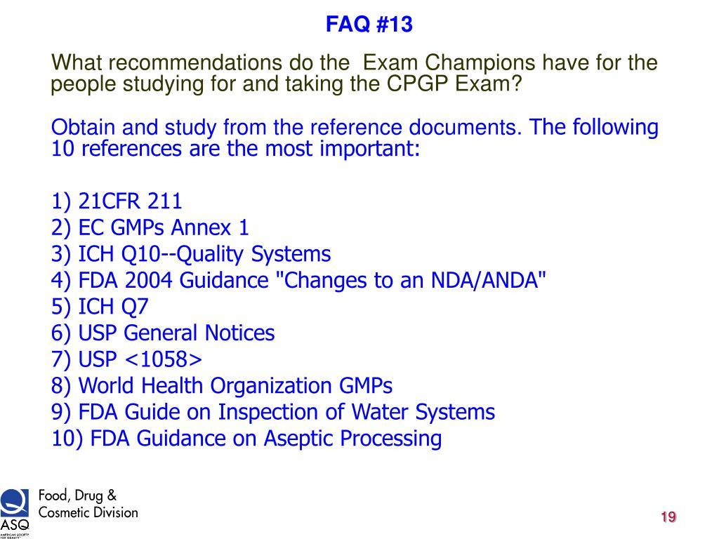 FAQ #13