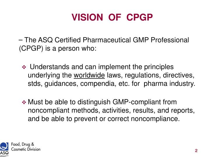 VISION  OF  CPGP