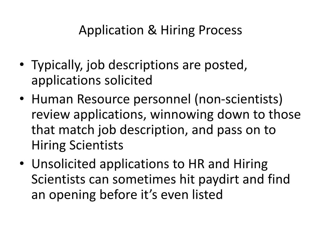 Application & Hiring Process