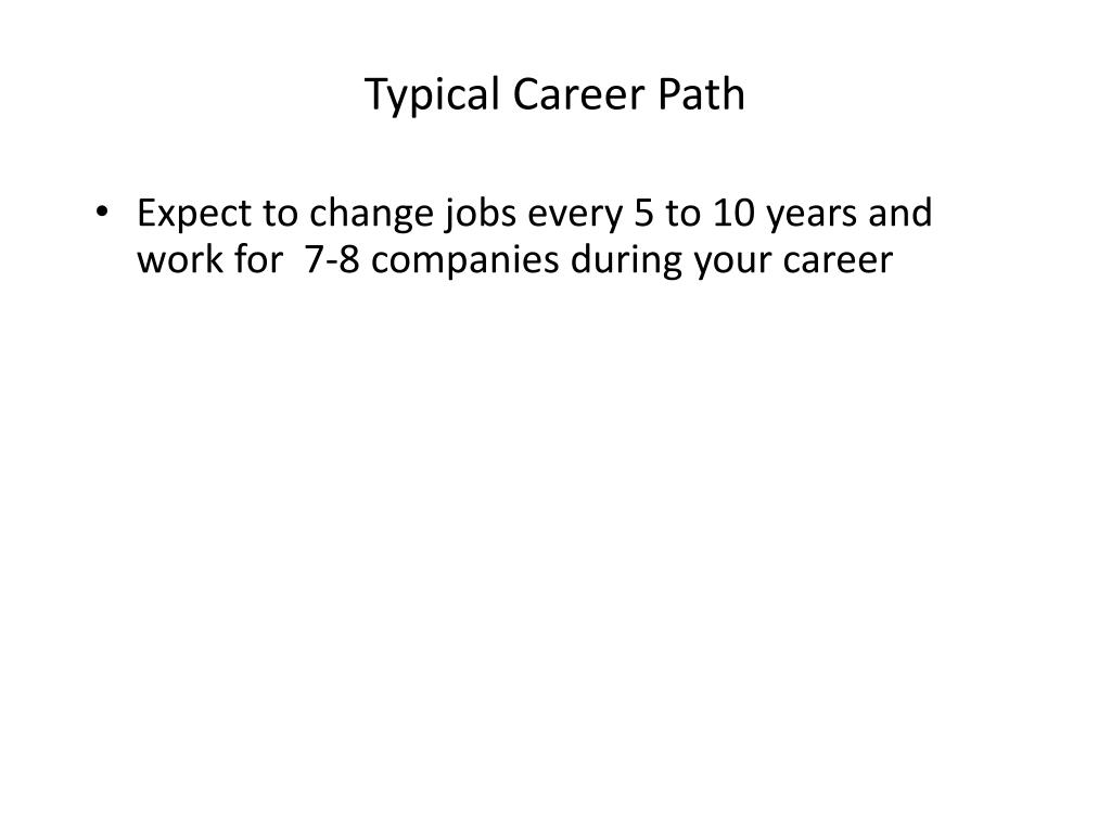 Typical Career Path