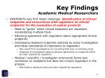 key findings academic medical researchers11