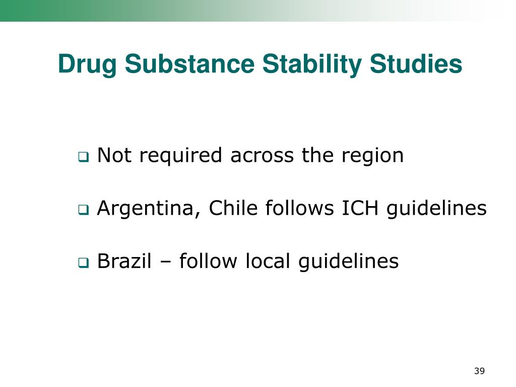 Drug Substance Stability Studies